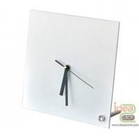 นาฬิกากระจกแก้วทรงสี่เหลี่ยม 20x20 ซม.
