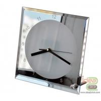 นาฬิกากระจกแก้วทรงสี่เหลี่ยมขอบกระจกเงา
