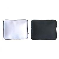 กระเป๋าผ้าใส่ Laptop, iPad สีขาว ขนาด 10 นิ้ว (ซิบสีดำ)  สีขาว