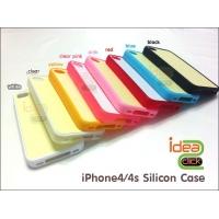 iPhone4/4s เคสขอบซิลิโคนเรียบ