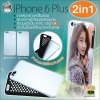 เคสพิมพ์ภาพเต็มรอบกรอบ pvc ผสมยาง iPhone 6 Plus แบบ 2in1
