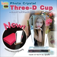 Photo Crystal ทรง Three-D Cup