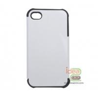 iPhone4/4s เคสเต็มรอบ PVC ผสมขอบยางบั๊มเปอร์