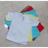 เสื้อยืดเด็กผ้า cotton คอวี คละสี